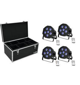 EUROLITE EUROLITE Set 4x LED SLS-603 TCL UV Floor + Case TDV-1