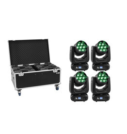 EUROLITE EUROLITE Set 4x LED TMH-X7 Wash Zoom + Case