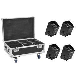 EUROLITE EUROLITE Set 4x AKKU IP UP-4 Plus HCL Spot WDMX + Case