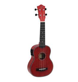DIMAVERY DIMAVERY UK-100 Soprano ukulele, flamed red