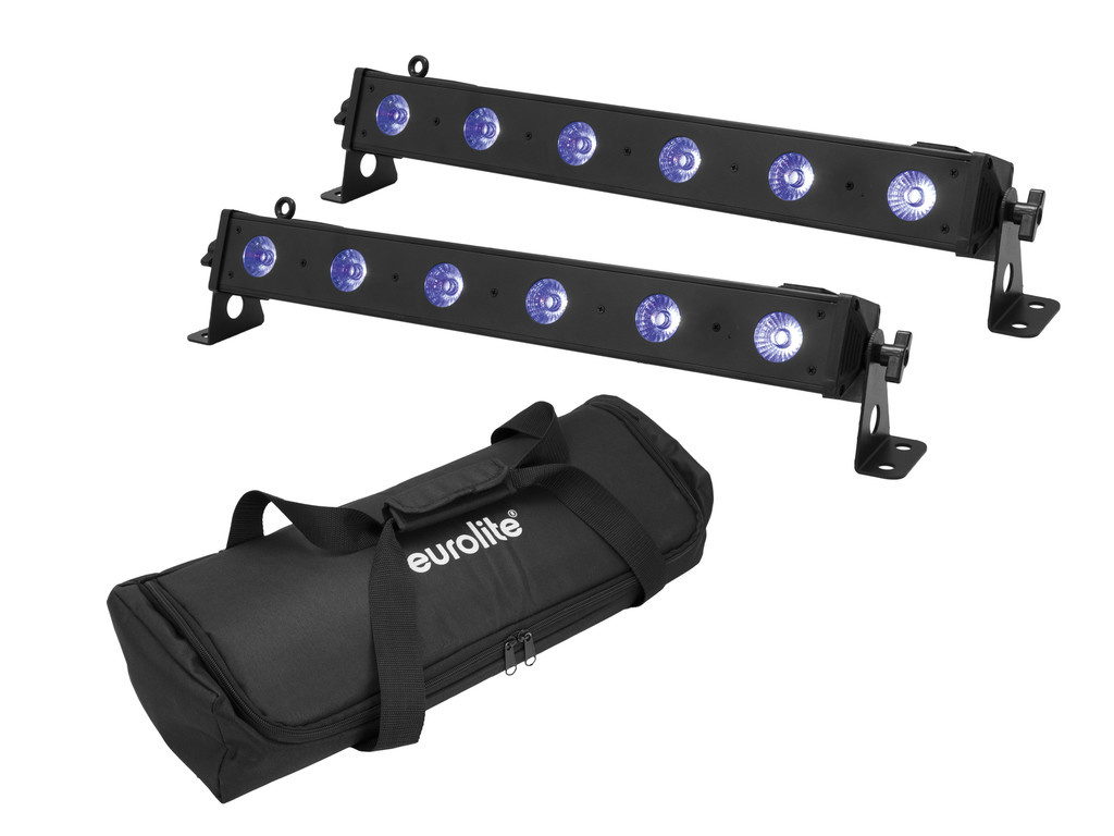 EUROLITE EUROLITE Set 2x LED BAR-6 QCL RGB+UV Bar + Soft-Bag
