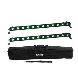 EUROLITE EUROLITE Set 2x LED BAR-12 QCL RGB+UV Bar + Soft-Bag