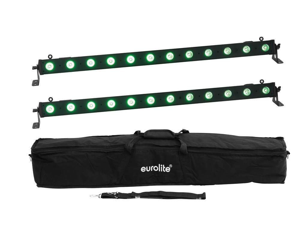 EUROLITE EUROLITE Set 2x LED BAR-12 QCL RGB+UV Bar + Soft-Bag