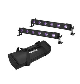 EUROLITE EUROLITE Set 2x LED BAR-6 UV Leiste + Soft-Bag