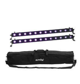 EUROLITE EUROLITE Set 2x LED BAR-12 UV Bar + Soft-Bag