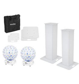 EUROLITE EUROLITE Set 2x Stage Stand 100cm + 2x LED B-40 HCL Beam Effect white