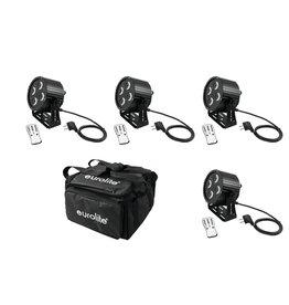 EUROLITE EUROLITE Set 4x LED PS-4 HCL Spot + SB-4 Soft-Bag