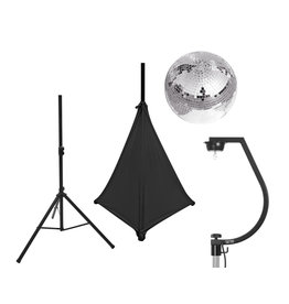 EUROLITE EUROLITE Set Mirror ball 30cm with stand and tripod cover black