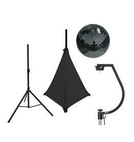 EUROLITE EUROLITE Set Mirror ball 30cm black with stand and tripod cover black