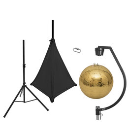 EUROLITE EUROLITE Set Mirror ball 50cm gold with stand and tripod cover black