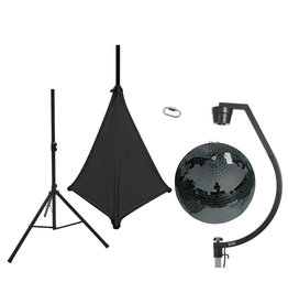 EUROLITE EUROLITE Set Mirror ball 50cm black with stand and tripod cover black