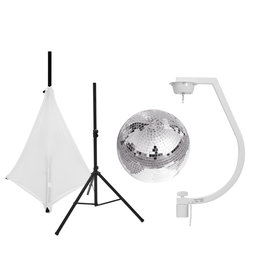 EUROLITE EUROLITE Set Mirror ball 30cm with stand and tripod cover white