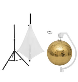 EUROLITE EUROLITE Set Mirror ball 50cm gold with stand and tripod cover white