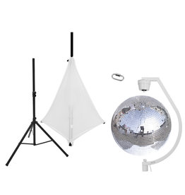 EUROLITE EUROLITE Set Mirror ball 50cm with stand and tripod cover white