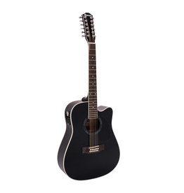 DIMAVERY DIMAVERY DR-612 Western guitar 12-string, black