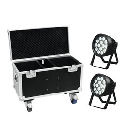 EUROLITE EUROLITE Set 2x LED IP PAR 14x8W QCL + Case with wheels