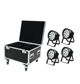 EUROLITE EUROLITE Set 4x LED IP PAR 14x8W QCL + Case