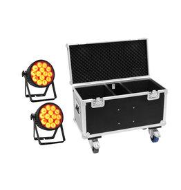EUROLITE EUROLITE Set 2x LED IP PAR 14x10W HCL + Case with wheels