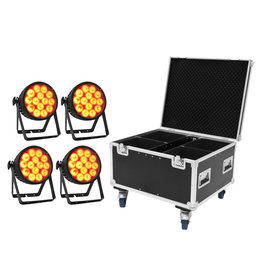 EUROLITE EUROLITE Set 4x LED IP PAR 14x10W HCL + Case
