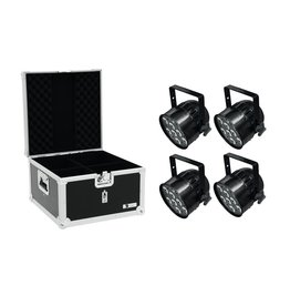 EUROLITE EUROLITE Set 4x LED PAR-56 QCL Short sw + EPS Case