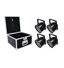 EUROLITE EUROLITE Set 4x LED PAR-56 HCL Short sw + PRO Case