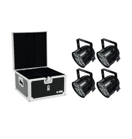 EUROLITE EUROLITE Set 4x LED PAR-56 HCL Short sw + EPS Case