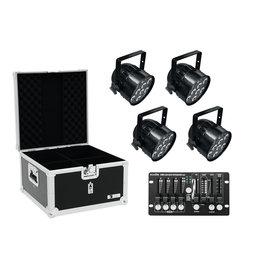 EUROLITE EUROLITE Set 4x LED PAR-56 QCL bk + Case + Controller