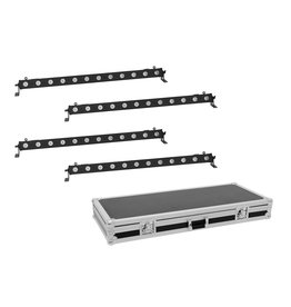 EUROLITE EUROLITE Set 4x LED BAR-12 QCL RGBW Bar + Case