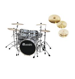 DIMAVERY DIMAVERY Set DS-600 grey + DB Cymbals