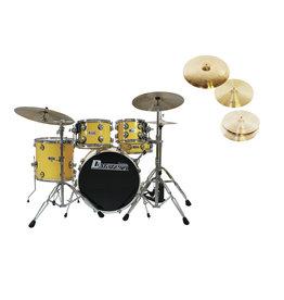 DIMAVERY DIMAVERY Set DS-620 yellow + DB Cymbals