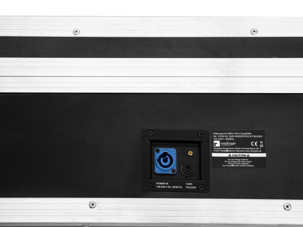 ROADINGER ROADINGER Flightcase 8x AKKU UP-4 QuickDMX with charging function