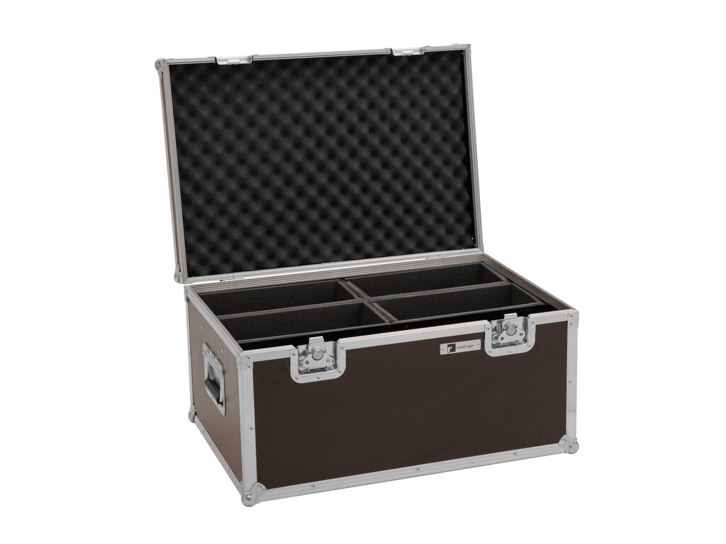 ROADINGER ROADINGER Flightcase 4x LED 4/7C-12 Silent Slim Spot