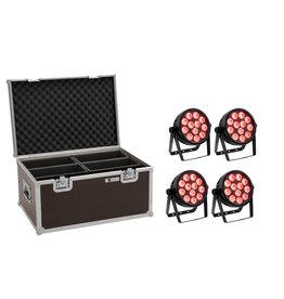 EUROLITE EUROLITE Set 4x LED 7C-12 Silent Slim Spot + Case