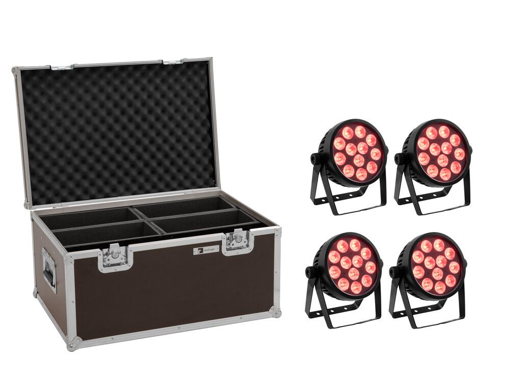 EUROLITE EUROLITE Set 4x LED 4C-12 Silent Slim Spot + Case