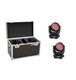 EUROLITE EUROLITE Set 2x LED TMH-X4 Moving-Head Wash Zoom + Case