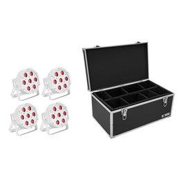 EUROLITE EUROLITE Set 4x LED SLS-7 HCL Floor white + Case