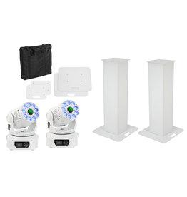 EUROLITE EUROLITE Set 2x Stage Stand 100cm + 2x LED TMH-75 COB white