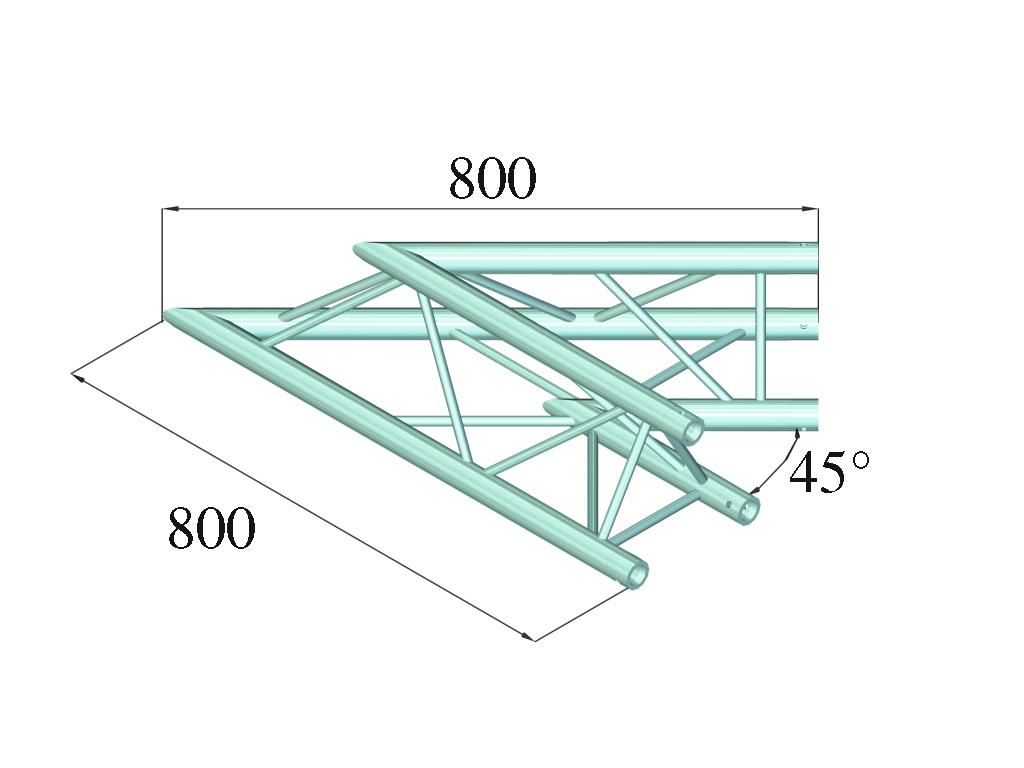 ALUTRUSS ALUTRUSS DECOLOCK DQ3-SPAC19 2-Way Corner 45° bk