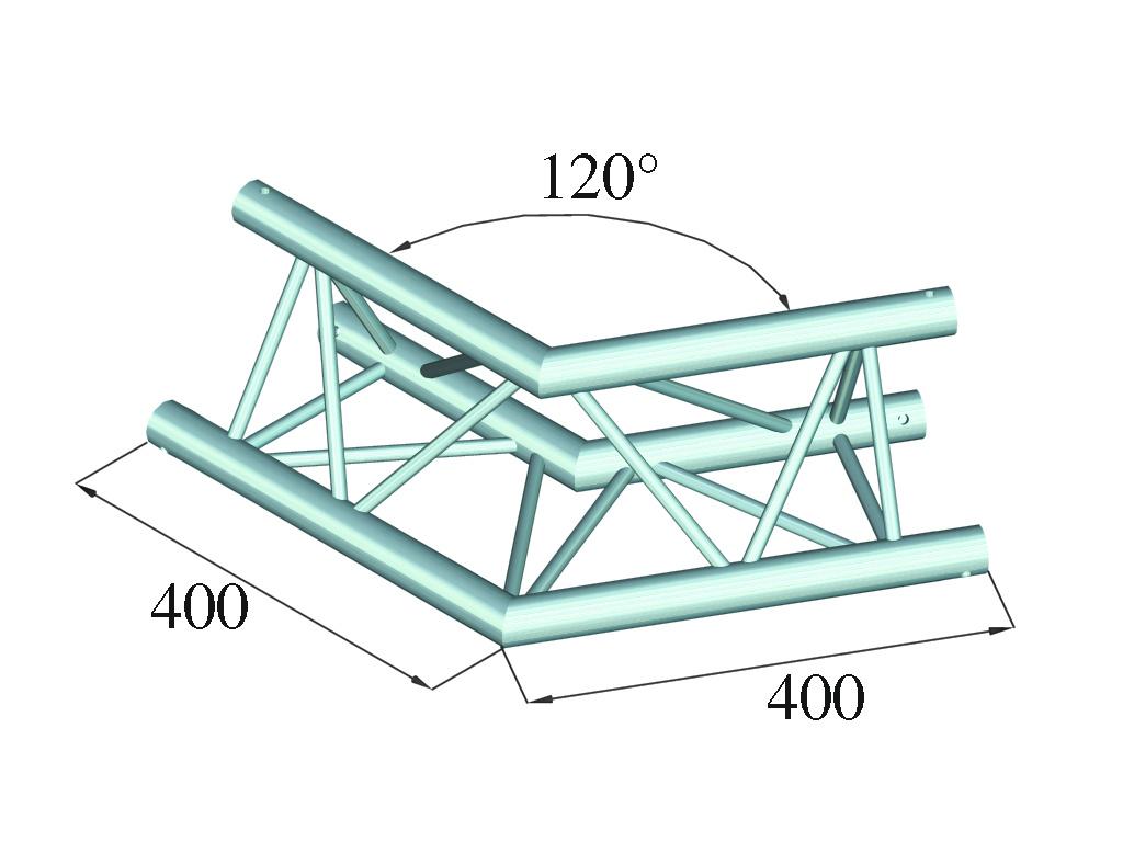 ALUTRUSS ALUTRUSS DECOLOCK DQ3-SPAC22 2-Way Corner 120° bk