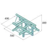 ALUTRUSS ALUTRUSS DECOLOCK DQ3-SPAT43 4-Way T-Piece /\ bk