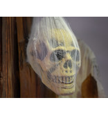 EUROPALMS EUROPALMS Halloween Figure Skull in Spider Web, 30cm