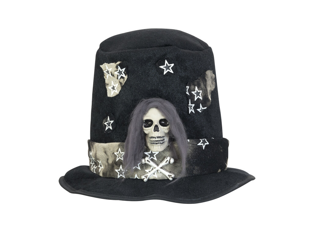 EUROPALMS EUROPALMS Halloween Costume Top-Hat with Skull
