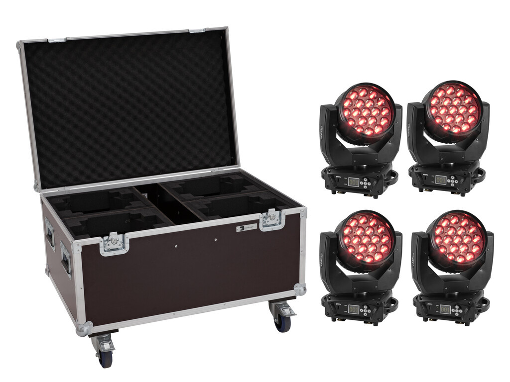 EUROLITE EUROLITE Set 4x LED TMH-X4 Moving-Head Wash Zoom + Case