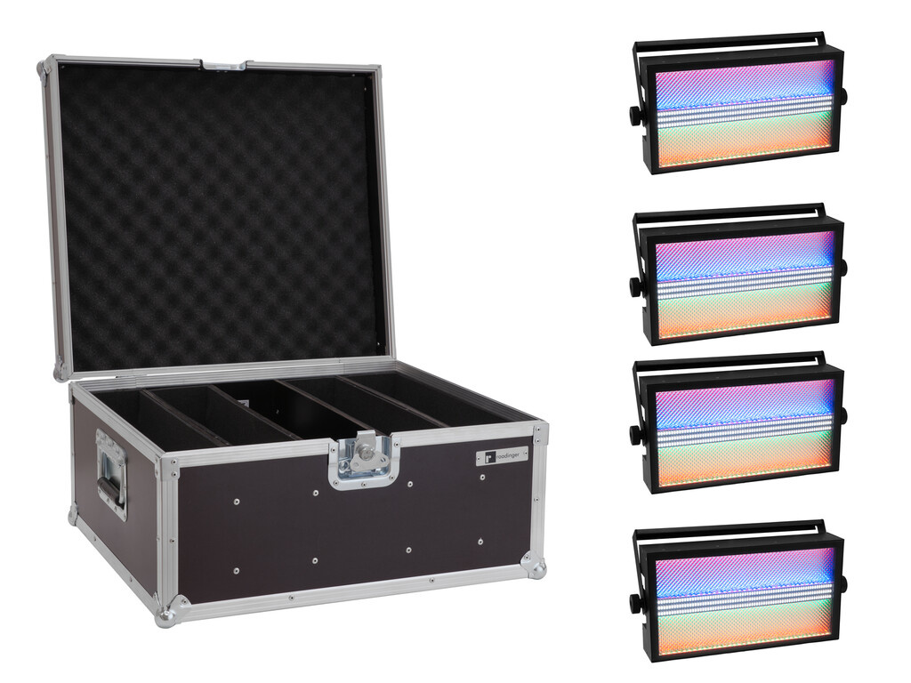EUROLITE EUROLITE Set 4x LED Super Strobe ABL + Case