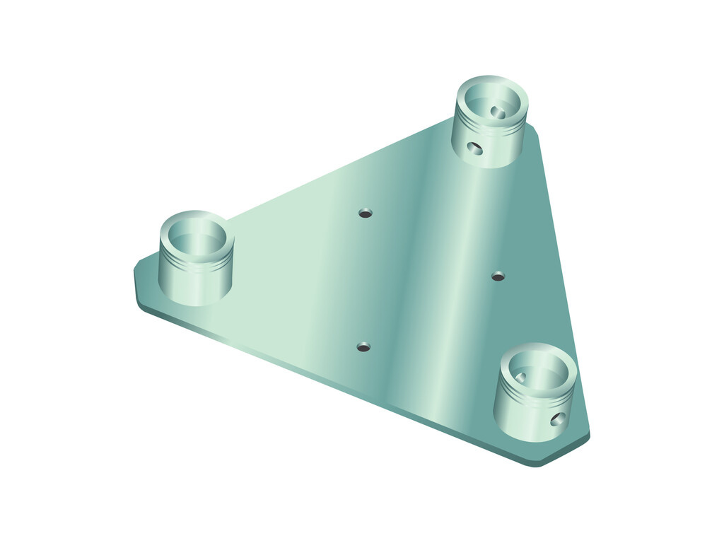 ALUTRUSS ALUTRUSS DECOLOCK DQ3S-WP Wall Mounting Plate bl