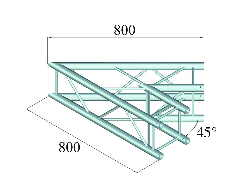 ALUTRUSS ALUTRUSS DECOLOCK DQ4-SPAC19 2-Way Corner 45° bk