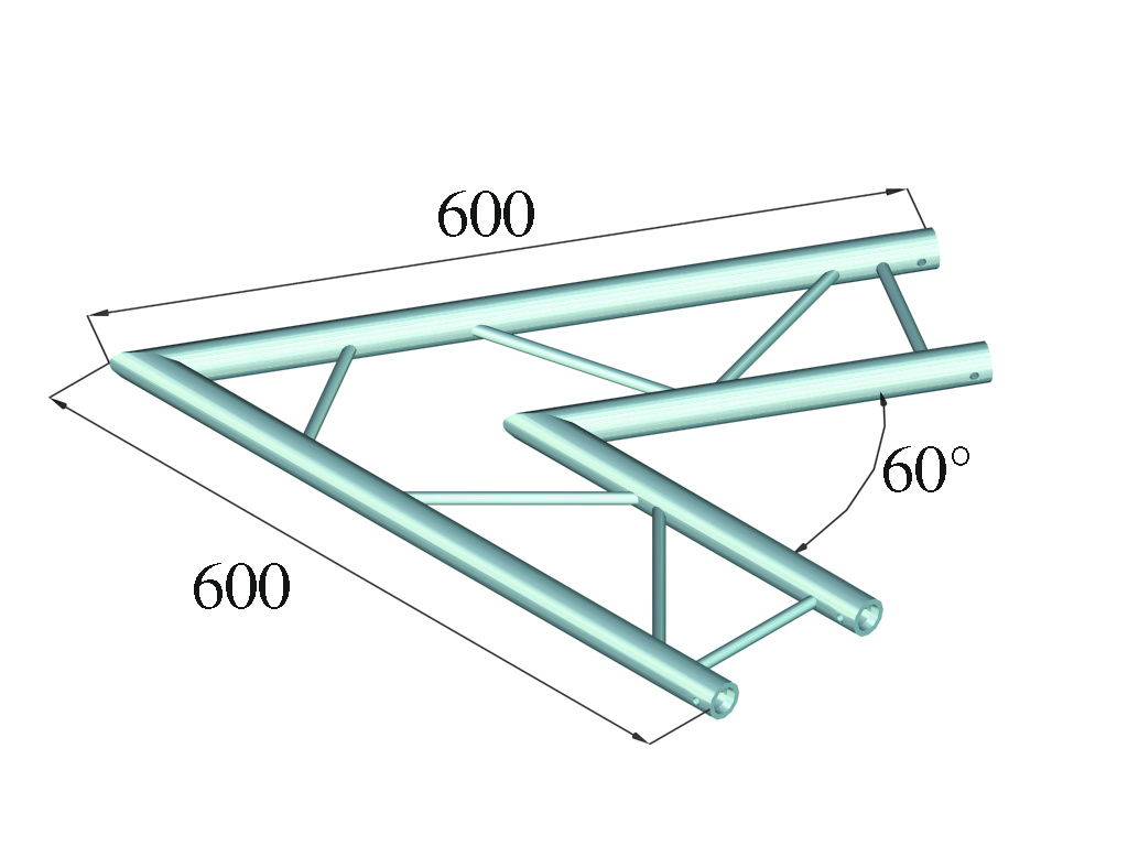 ALUTRUSS ALUTRUSS DECOLOCK DQ2-PAC20H 2-way Corner 60° bk