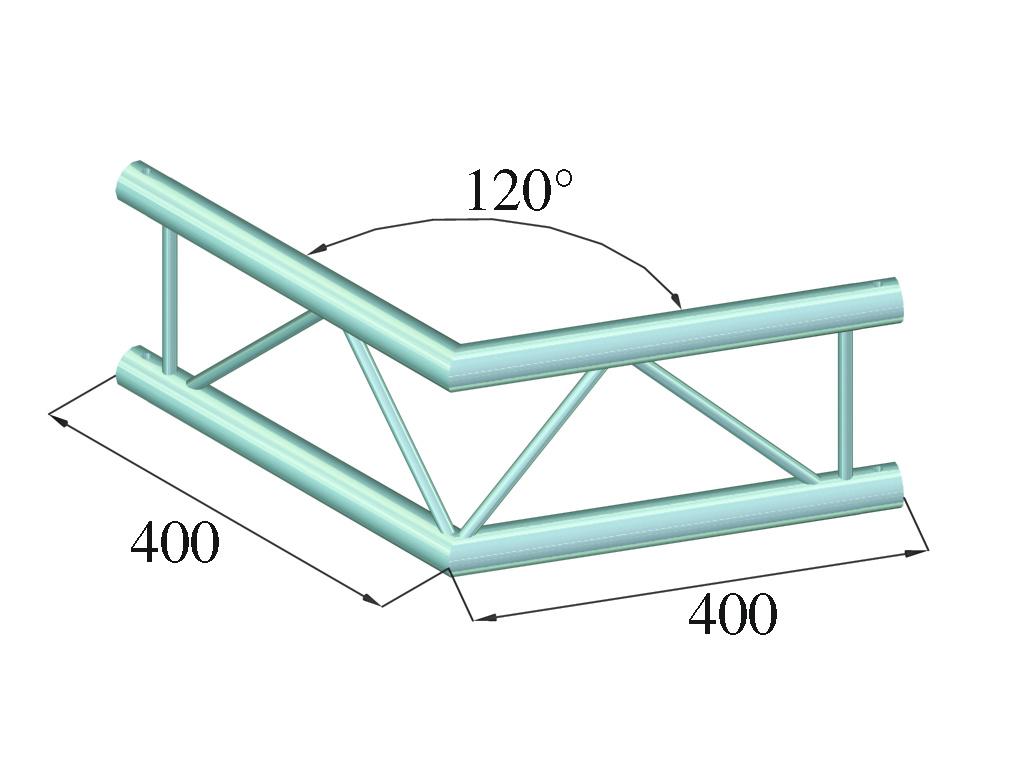 ALUTRUSS ALUTRUSS DECOLOCK DQ2-SPAC22V 2-way Corner 120°bk