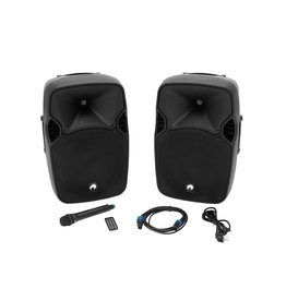 OMNITRONIC OMNITRONIC XFM-212AP Active 2-Way Speaker Set with Wireless Micr