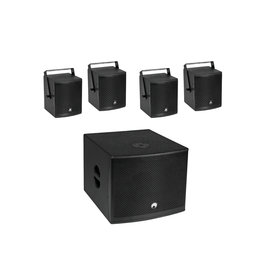 OMNITRONIC OMNITRONIC Set MOLLY-12A Subwoofer active + 4x MOLLY-6 Top 8 Ohm, black